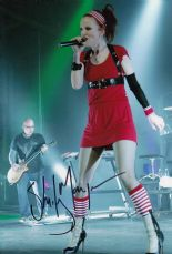 P120SM SHIRLEY MANSON SIGNED GARBAGE SIGNED 12X8 PHOTO GUARANTEED AUTHENTIC AUTOGRAPH …